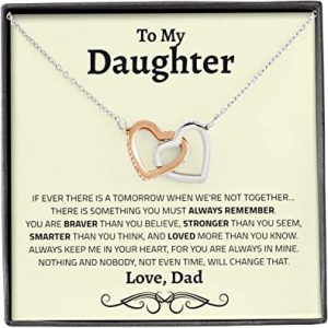 To My Daughter Necklace From Dad 2